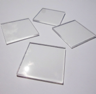 50mm x 50mm Square Lightweight Acrylic Stamping Blocks x 4 Per Pack